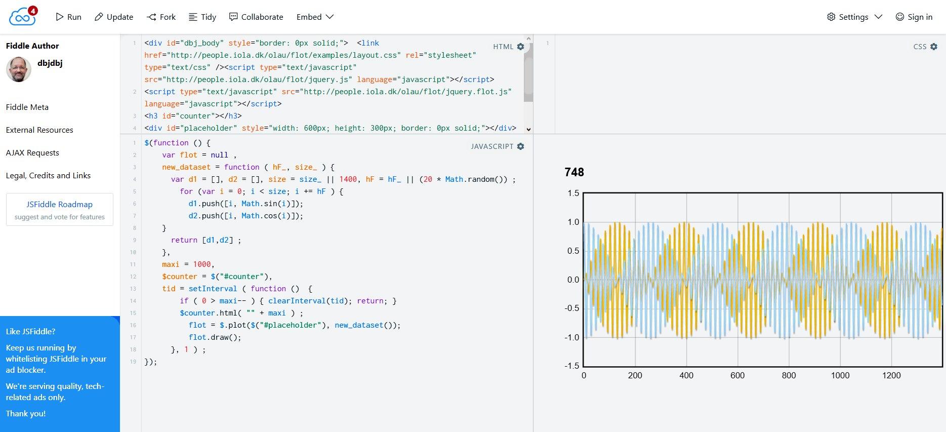 Snazzy Java Script + Flot