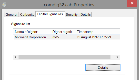 commdlg32.cab file properties