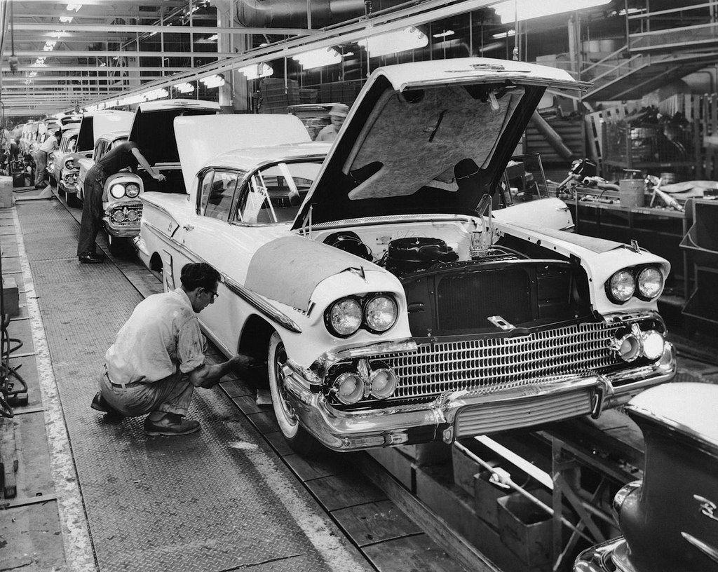 Vintage car factory